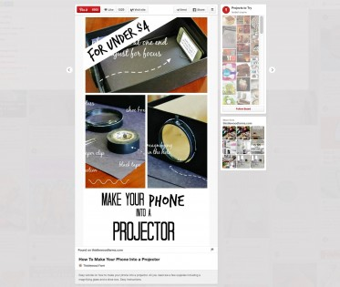 make your phone a projector