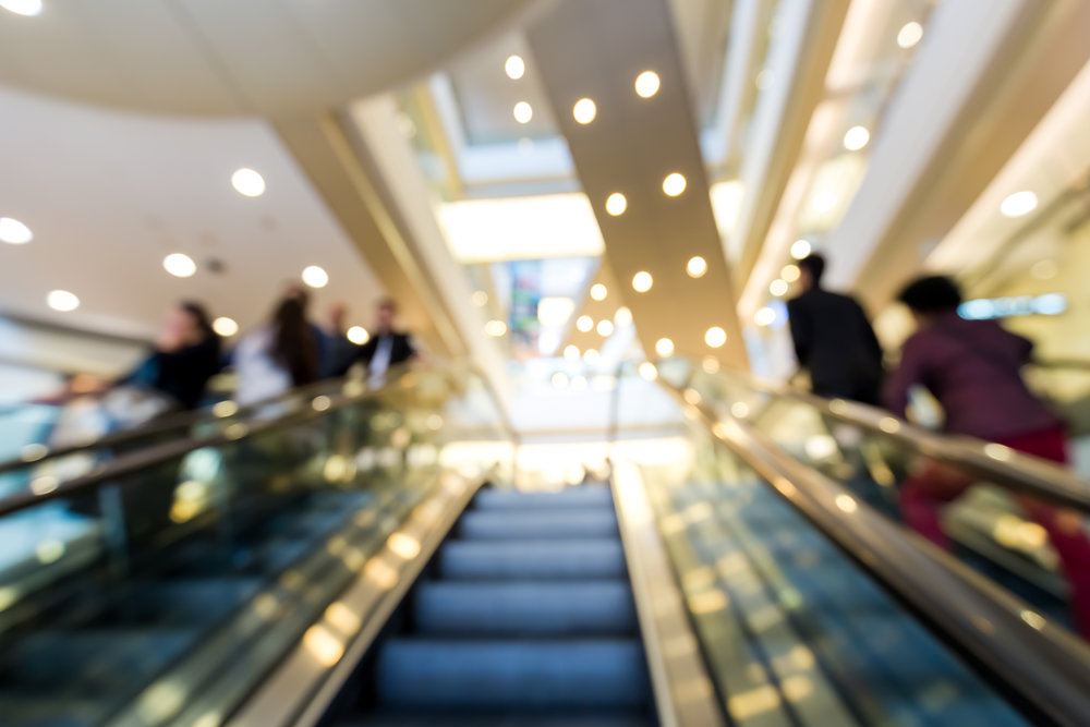 Blurred defocus shopping mall background