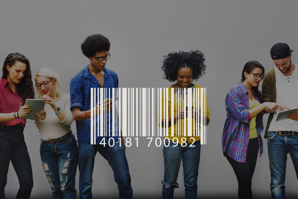 Barcode Identification Label Encryption Tag Concept